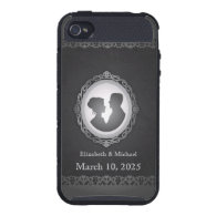 Black Victorian Gothic Cameo iPhone 4 Skinit Case iPhone 4 Cases