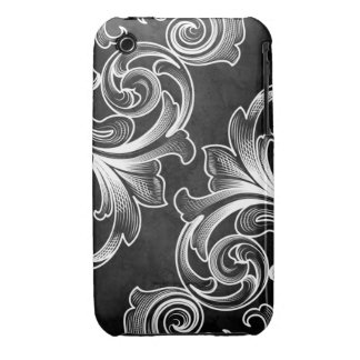 Black Victorian Scroll iPhone 3G/3GS Case