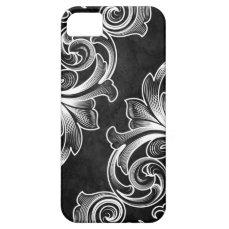Black Victorian Scroll iPhone 5/5S Case