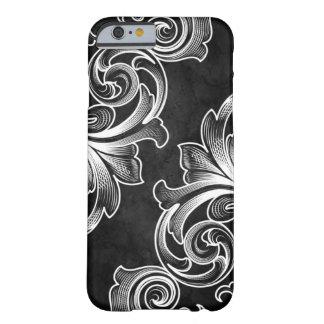 Black Victorian Scroll iPhone 6 case