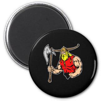 Black Viking 2 Inch Round Magnet