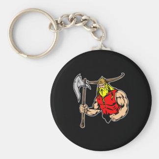 Black Viking Keychain