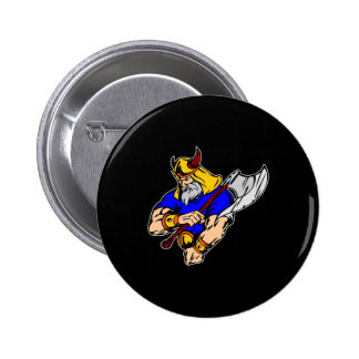 Black Viking Praying Pinback Button