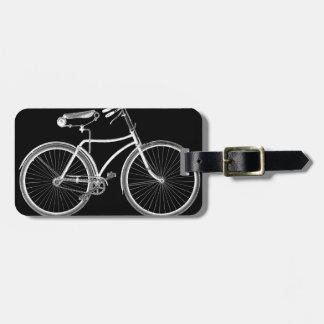 Black Vintage Bicycle Antique/Retro Cycling Bag Tag