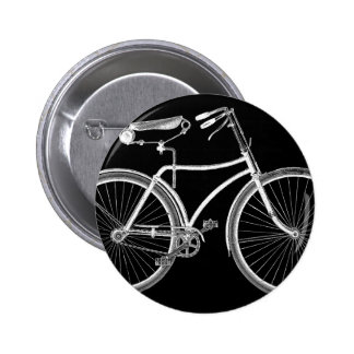 Black Vintage Bicycle Antique/Retro Cycling Pinback Button