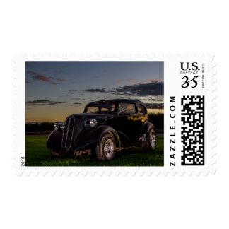 Black Vintage Car Postage Stamp