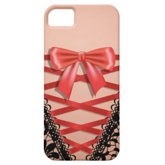 Black Vintage Damask Lace Corset Bridal Lingerie iPhone SE/5/5s Case