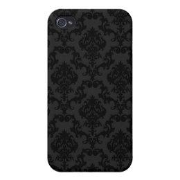 Black Vintage iPhone 4 Case