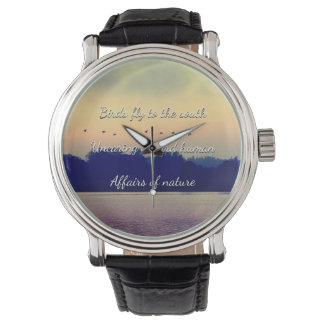 Black Vintage Leather Watch Template