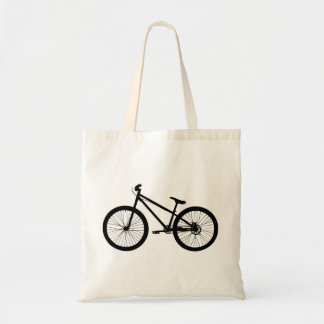 Black Vintage Mountain Bike Canvas Tote Bag