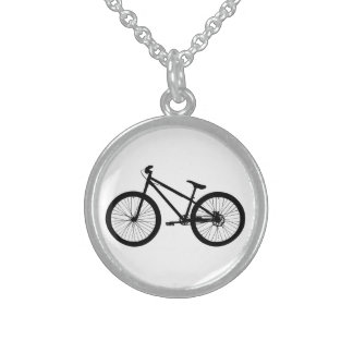 Black Vintage Mountain Bike Necklace