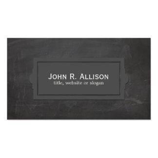 Black Vintage Rustic Plaque Style Business Card