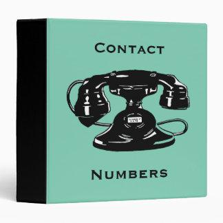 Black Vintage Telephone With Rotary Dial Binder