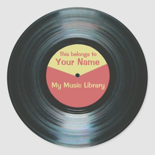 black vinyl music library record label stickers. Black Bedroom Furniture Sets. Home Design Ideas
