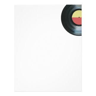 Black Vinyl Music Record Label 2 Letterhead