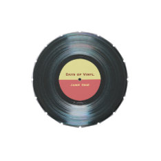 Black Vinyl Music Record Label Candy Tin at Zazzle