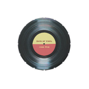 Black Vinyl Music Record Label Jelly Belly Candy Tins at Zazzle