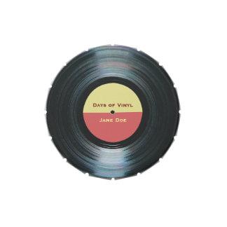Black Vinyl Music Record Label Candy Tin