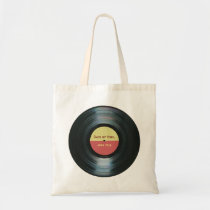 Black Vinyl Music Record Label Canvas Tote Bag at Zazzle