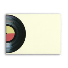 Black Vinyl Music Record Label Envelope at Zazzle