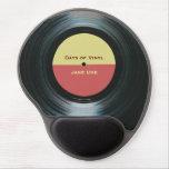 Black Vinyl Music Record Label Gel Mouse Pad at Zazzle
