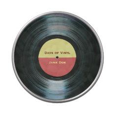Black Vinyl Music Record Label Jelly Belly Tin at Zazzle