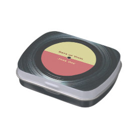 Black Vinyl Music Record Label Jelly Belly Tins at Zazzle