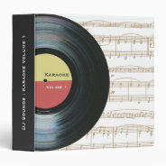 Black Vinyl Music Record Label Karaoke Folder at Zazzle