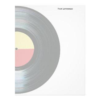Black Vinyl Music Record Label Letterhead