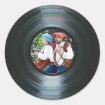 Black Vinyl Music Record Label Sticker &Your Photo