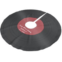 Black Vinyl Record Custom Christmas Tree Skirt