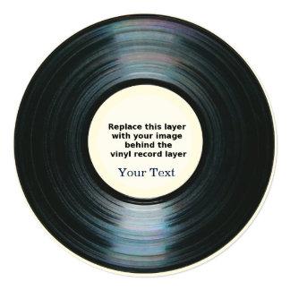 Black Vinyl Record Effect Announcement