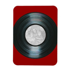 Black Vinyl Record Effect Custom Photo Magnet at Zazzle