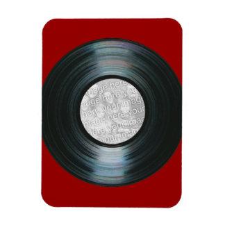 Black Vinyl Record Effect Custom Photo Magnet