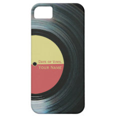 Black Vinyl Record Effect Iphone 5/5s Case at Zazzle