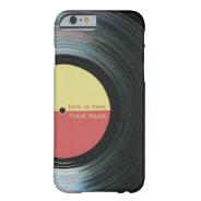 Black Vinyl Record Effect iPhone 6 case at Zazzle