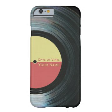 Black Vinyl Record Effect iPhone 6 case at Zazzle