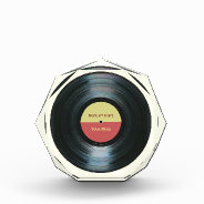 Black Vinyl Record Effect Music Award at Zazzle