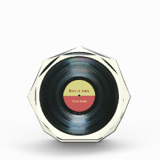 Black Vinyl Record Effect Music Award at Zazzle