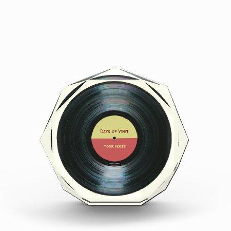 Black Vinyl Record Effect Music Award
