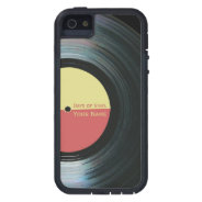Black Vinyl Record Effect on iPhone 5 Case Xtreme at Zazzle