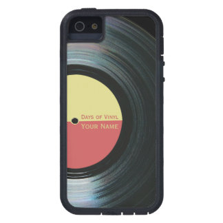 Black Vinyl Record Effect on iPhone 5 Case Xtreme