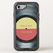 Black Vinyl Record Effect OtterBox Defender iPhone 7 Case at Zazzle