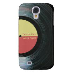 Black Vinyl Record Effect Samsung Galaxy S4 Case at Zazzle