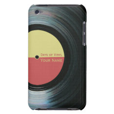Black Vinyl Record Effect Yellow Label Ipod 4g Ipod Touch Cover at Zazzle