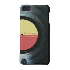 Black Vinyl Record Effect Yellow Label Ipod 5g Ipod Touch 5g Case at Zazzle