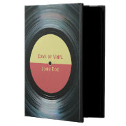 Black Vinyl Record With Label iPad Air Case at Zazzle