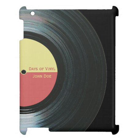 Black Vinyl Record With Label Ipad Case