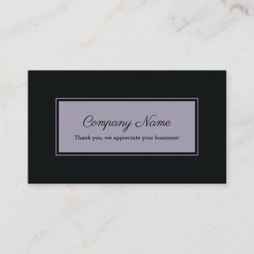 Black Violet Rectangle Frame Referral Card