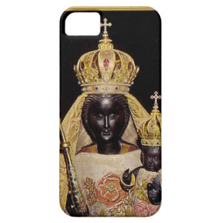 Black virgin Mary and baby Jesus iPhone SE/5/5s Case